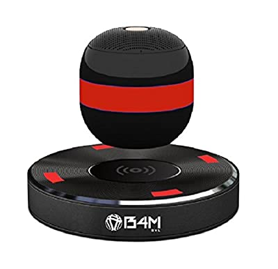 B4M OVL-Dark Black Levitating Bluetooth Speaker - Portable Floating & Rotating Wireless Speaker with Bluetooth 4.1 - Wireless Charging Speaker for IPhone Ipad Samsung HTC Pixel PC Tablet by B4M