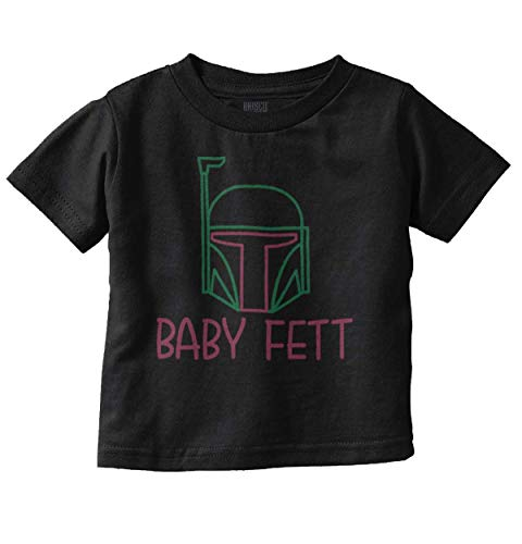 Boba Baby Fett Funny Galaxy Adorable Infant Toddler T Shirt Black