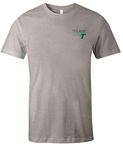 Image One NCAA Tulane Green Wave Hand Type Short Sleeve Triblend T-Shirt, (Tulane Green Wave Shirt)