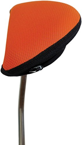 Mallet Putter Clubs (Stealth Club Covers 12110 Putter Oversize Mallet 2-Ball Golf Club Head Cover, Flame Orange/Black)