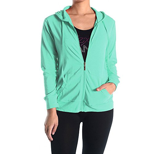 Womens Lightweight Cotton Zip Up Hoodie product image