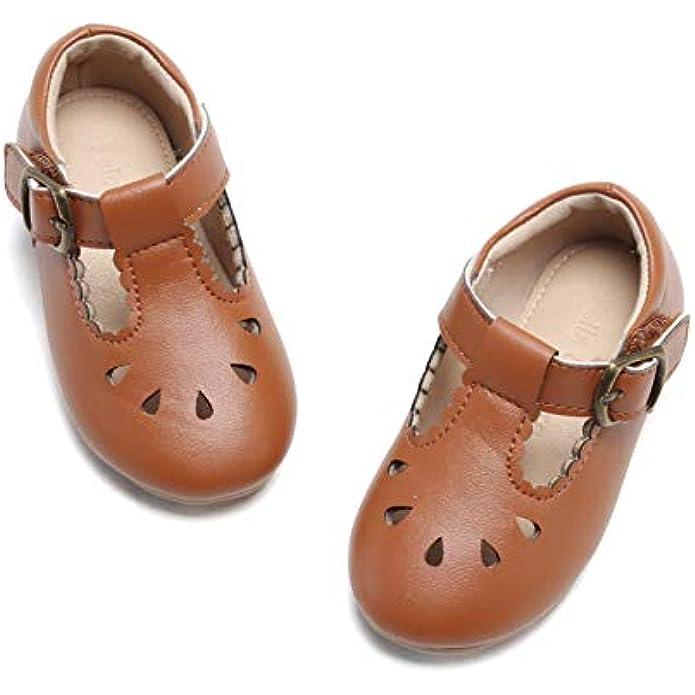 Felix & Flora Toddler Little Girl Mary Jane Dress Shoes - Ballet Flats for Easter Flower Girl Party School Shoes