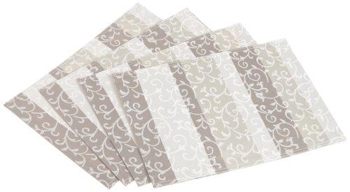 Lenox Opal Innocence Stripe Placemats, Set of 4, Platinum
