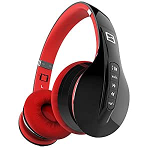Apie Wireless Bluetooth Headphones Foldable Noise Cancelling Over-Ear Headset Stereo with In-line Microphone Sweatproof Adjustable Portable
