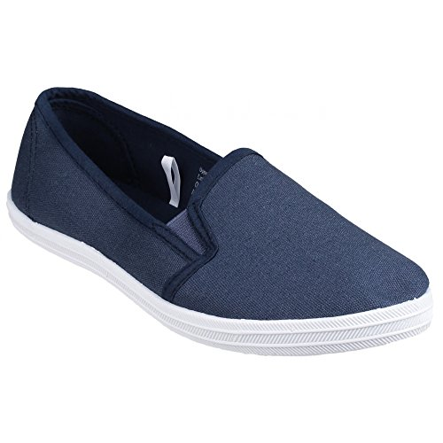 Ladies Divaz on day Every Garland Slip Casual Womens Navy Summer Pumps RRqUw5g