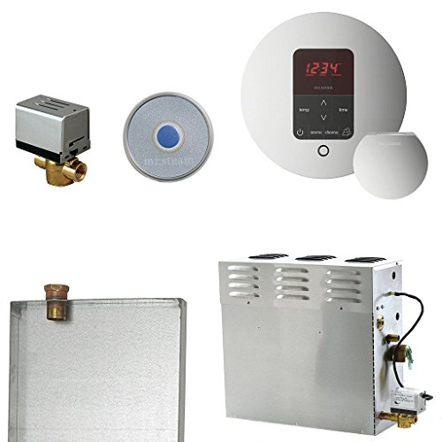 CT6EC1 Day Spa Steam Generator With iTempo Plus Control In Round Polished Chrome
