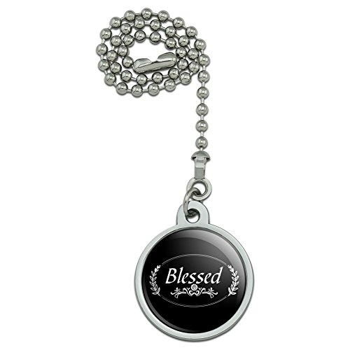 Halo Ornament - GRAPHICS & MORE Blessed Halo On Black Ceiling Fan and Light Pull Chain