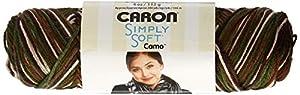 Caron Simply Soft Camo Yarn, 4 Ounce, Snow Camo