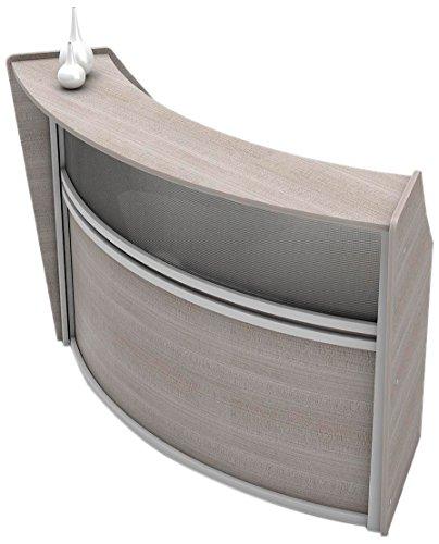 Linea Italia ZUD310 Curved Reception Desk, Ash