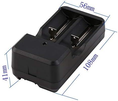 #N//V Batterie Rechargeable 2x18650 9900mah avec Chargeur Universel 3.7V 18650 Batteries au Lithium Li-ION Baterias avec Chargeur de Prise US