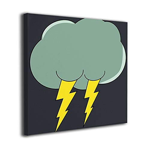 WONDER 4 Thunder Cloud Modern Wall Decor/Home Decor Canvas Wall Art Stretched and Ready to Hang