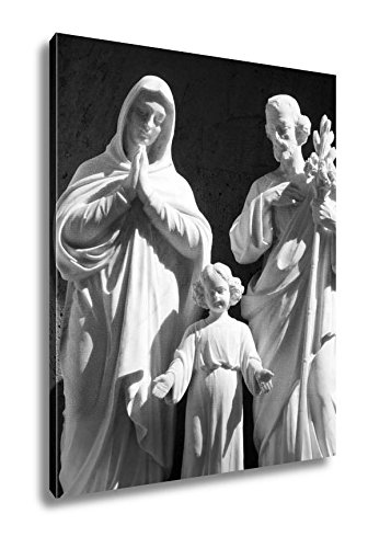 Ashley Canvas Holy Family Basilica Of The Annunciation In Nazareth, Wall Art Home Decor, Ready to Hang, Black/White, 20x16, AG5561107 by Ashley Canvas