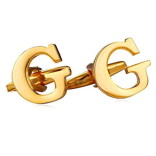 ated Initial Cufflinks (Letter G) (18k Gold Cufflinks)