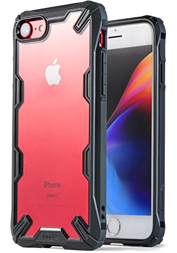 Iphone 7 Case  Iphone 8 Case Ringke  Fusion X  Ergonomic Transparent  Military Drop Tested Defense  Hard Pc Back Tpu Bumper Protection Compatible For Apple Iphone 7  Iphone 8   Black