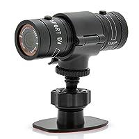 Sport Action Cam Mini Camera Bullet Full HD 1080p con Microfono e Supporti di Fissaggio