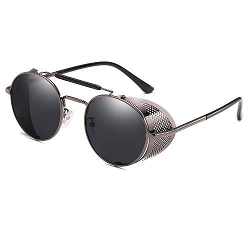Unique A Gun Glasses Black Fashion Vintage Retro Sun Sunglasses Steam Classic Wind Punk Design n1HCw0xq