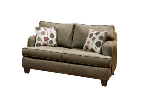 Furniture of America Imogen Modern Love Seat, Pewter Gray