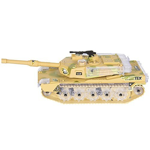 [Angelwing Military Army Tank Flashing Lights and Sound Bump Action Kids Toy] (Car Costume Cardboard Box)