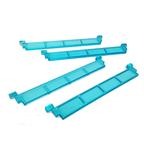 Lego-Parts-City-Garage-Roller-Door-Section-without-Handle-Service-Pack-of-4-Transparent-Light-Blue