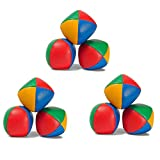 Juggle Balls 9 Pack Juggling Balls for Beginners, Quality Mini Juggling Balls, Durable Juggle Ball Kit, Soft Easy Juggling Bean Bags for Kids and Adults (Multi-Colored)