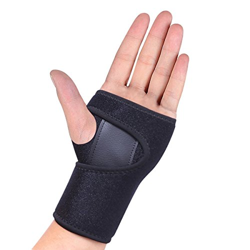 HEIRBLS Wrist Brace, Wrist Support Removable Wrist Hand Splint Support Training Protector, Cushioned to Help with Carpal Tunnel and Relieve and Treat Wrist Pain (Left) by HEIRBLS