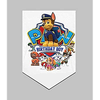 NEW 30x50in Paw Patrol Decoration Silver Banner Room Fan for Birthday Party Boy: Toys & Games