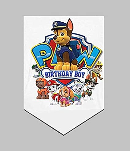 Bsstr PAW Dog Patrol Birthday Banner Party Supplies Decorations Party Favors Dog Theme Decorations