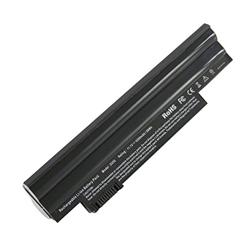 Futurebatt Li-ion Laptop Battery Replacement for Acer Aspire One D255 D260 722 Netbook, GATEWAY LT23 Series LT2304c, PN: AL10A31, AL10B31, AL10G31 (5200mAh, 11.1V, 6-Cell) 6 Cell Li Ion Laptop