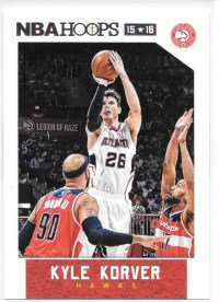Kyle Korver 2015-16 NBA Hoops Atlanta Hawks Card #202