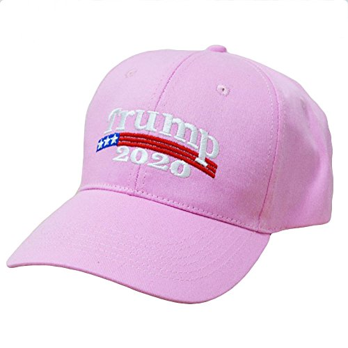 E-dance Make America Great Again Donald Trump 2020 USA Cap Adjustable Baseball Hat Pink - Adjustable Pink Hat