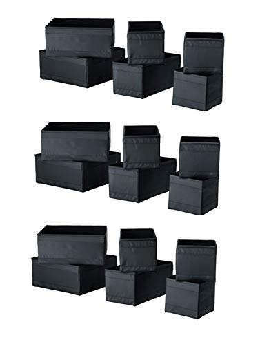 Box Use Multi Large - IKEA SKUBB Storage Box (Set of 18, Black)