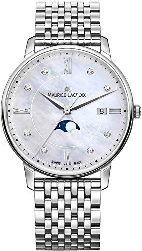 Maurice Lacroix Women's Eliros Moonphase 35mm Watch | Silver