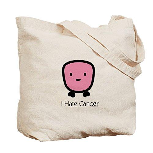 CafePress–I hate cáncer–Gamuza de bolsa de lona bolsa, bolsa de la compra