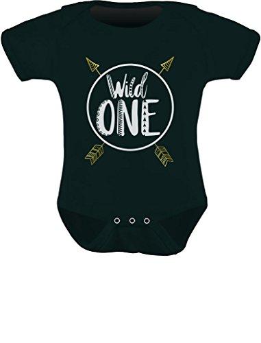 Tstars - Wild One Baby Boys Girls 1st Birthday Gifts One Year Old Baby Bodysuit 18M (12-18M) Black