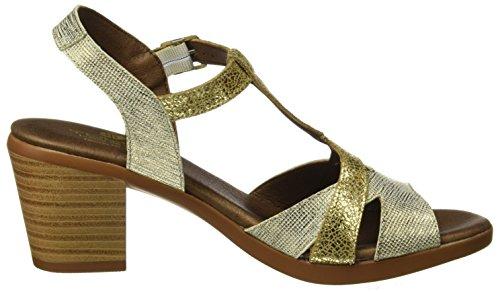 Tienda Calidad 11306, Sandalias de tacón Mujer Dorado (Oro)