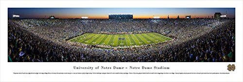 Notre Dame Football - 50 Yard line Twilight - Blakeway Panoramas Unframed College Sports Posters