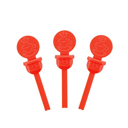 Red Stopper - StixToGo Red Circle Beverage Plug for Disposable Lids, Package of 400