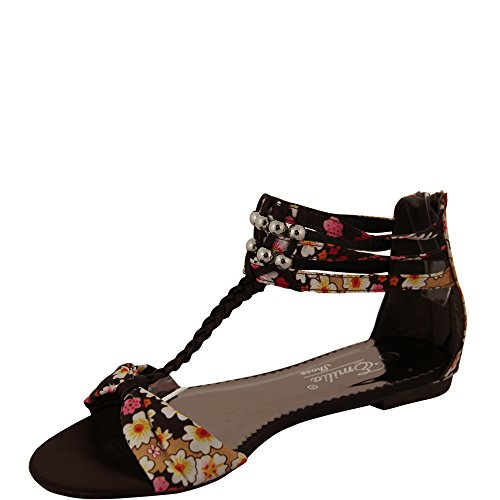 Unbekannt - Sandalias de vestir de Satén para mujer Marrón marrón Marrón - marrón