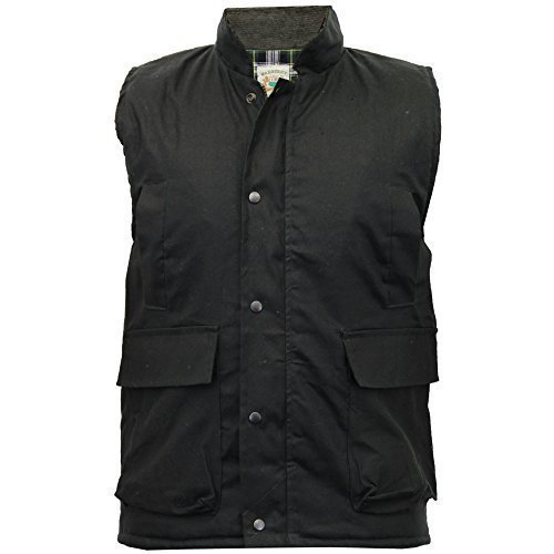 Men's Wax Cotton Oiled Waistcoat Gilet Body warmer M-XXL