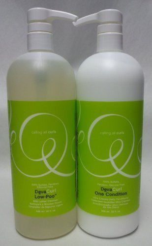 Deva Curl Low-Poo Mild Lather Cleanser and One Condition Ultra Creamy Daily Conditioner Duo 32 Oz.