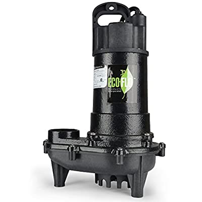 ECO-FLO Products ECD33V Cast Iron Sump Pump with Vertical Switch