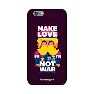 HomeSoGood Make Love Not War Multicolor For iPhone 6 (Back Cover)