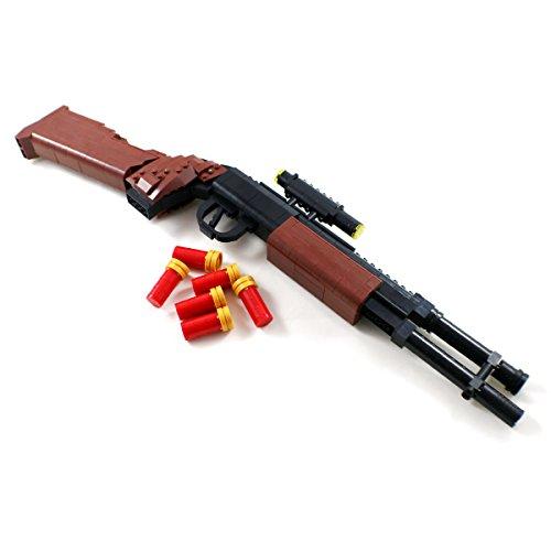 Pump Action Shotgun Model - Military Firearm Building Block Gun