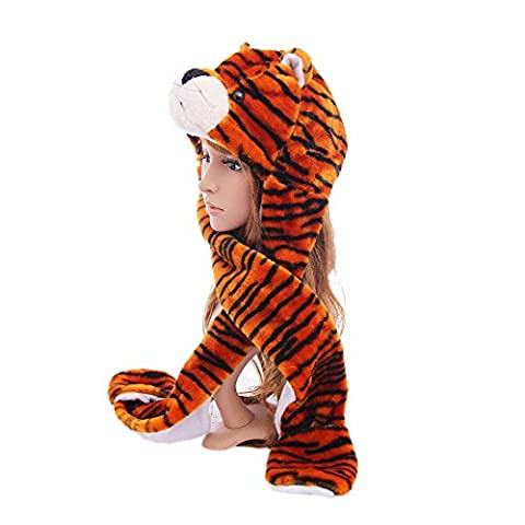 Tiger_(US Seller)Caps Glove Hood Multifunctional Hat Cute Super Warm - Doug Plush Border Collie