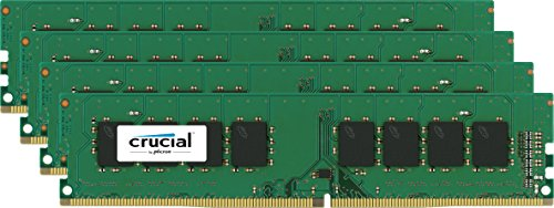 Crucial Server Ram (Crucial 32GB (8GBx4) Desktop Memory Kit DDR4-2133, PC4-17000, UDIMM, 288-Pin)