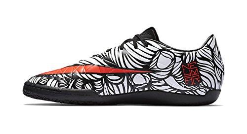 Nike Mens Hypervenom Phelon II Njr Ic Black/Bright Crimson/White Indoor Soccer Shoe 10.5 Men US