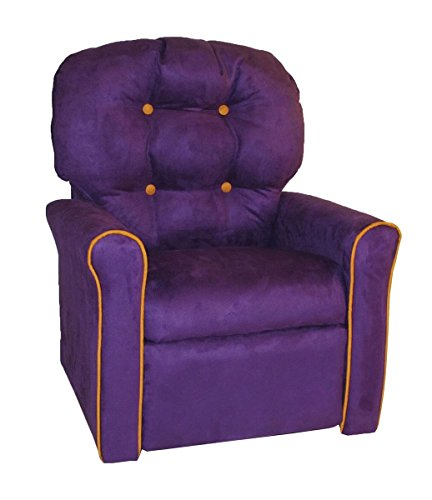 - Dozydotes Personalized 4 Button Purple Micro Suede Child Rocker Recliner Chair with Pumpkin Accents