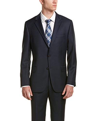 Hickey Freeman Mens 2Pc Milburn Ii Wool Suit, 42R, - Freeman Mens Suits Hickey
