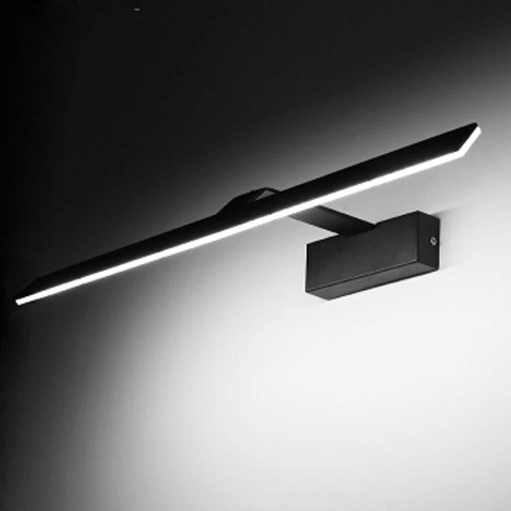 QqHAO Bad Vanity Mirror Front Light Bad Free Punch Bad Spiegelschrank Spiegelfront Leuchte LED Schwarze Anti-Nebel-Wandlicht