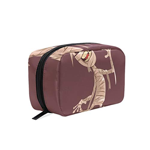 Women Girl Cosmetic Makeup Bag Travel Makeup Bag Organizer Toiletry Bag for Vacation Smiling Mummy ()